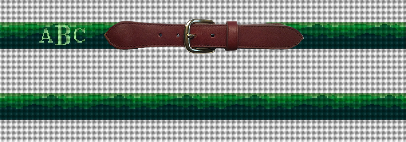 Green Mountain Needlepoint Belt