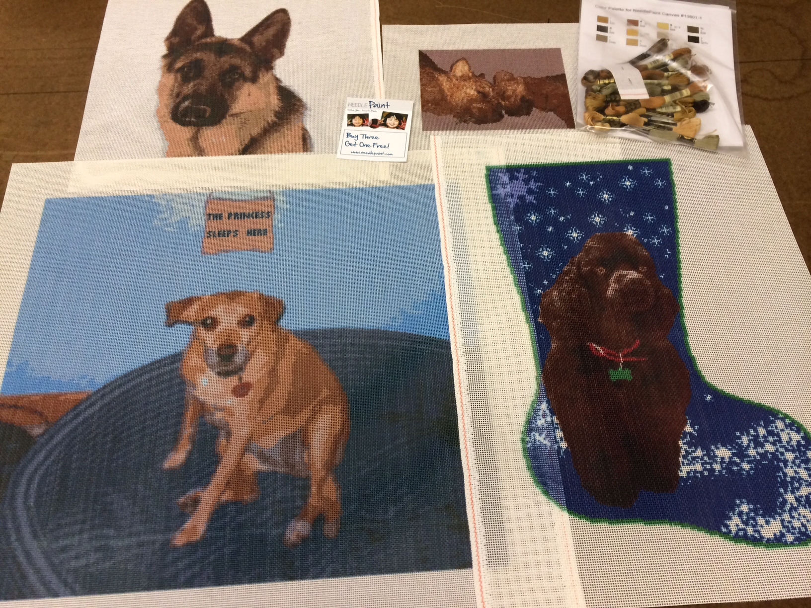 Custom Dog Needlepoint Canvases, Stitch your best Friend!