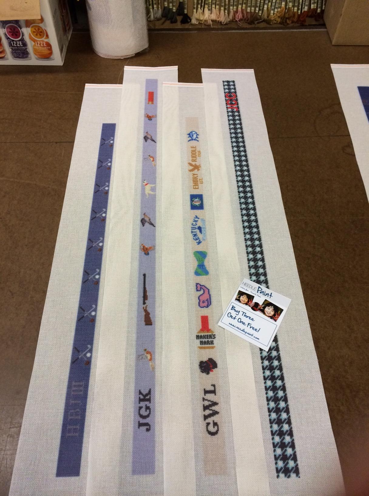 needlepoint belt canvases