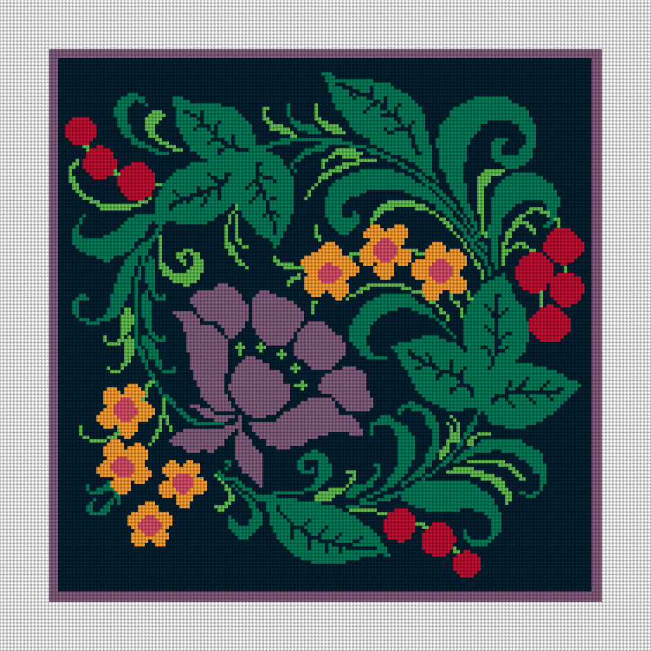Tadley Floral Needlepoint Kit Design Preview