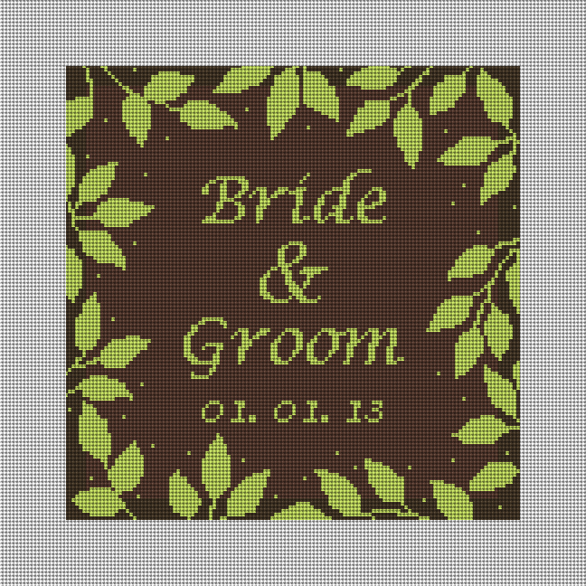 Telluride Brown Wedding Ring Bearer Pillow Needlepoint Kit
