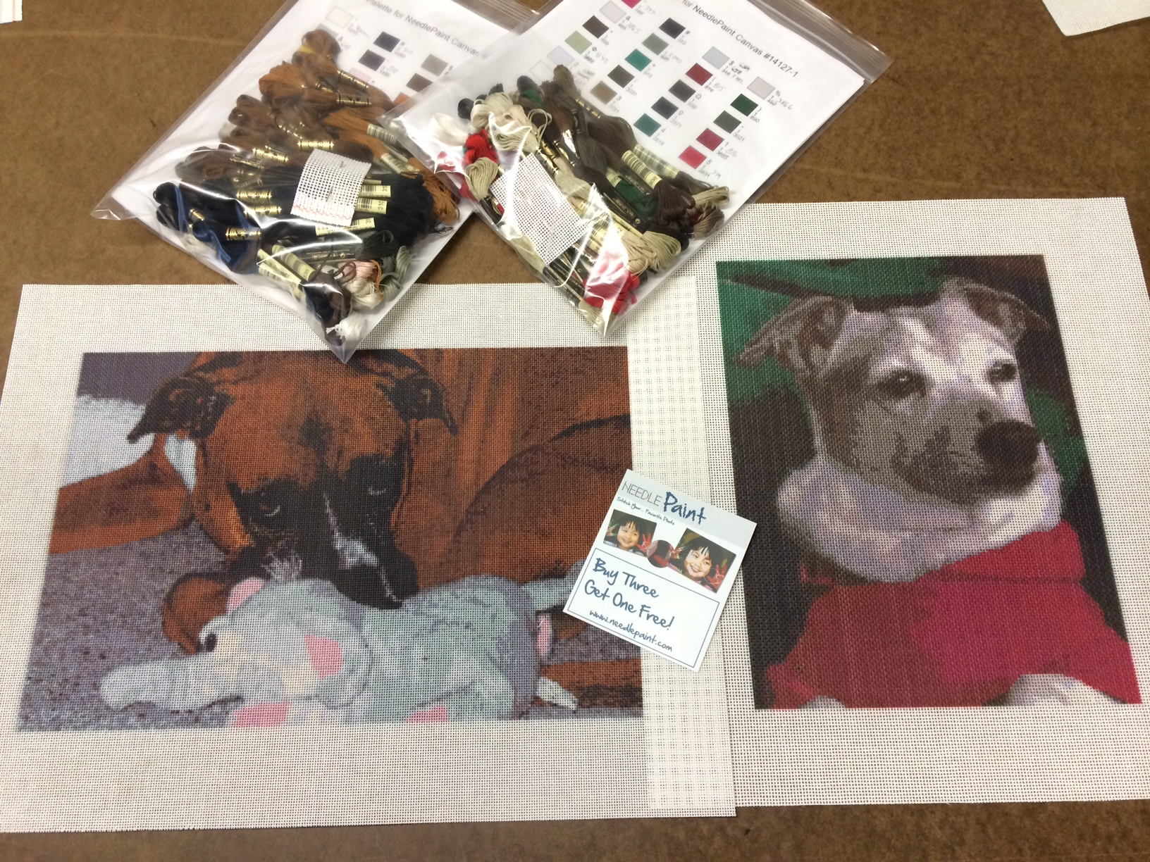 Custom Dog Needlepoint Kits