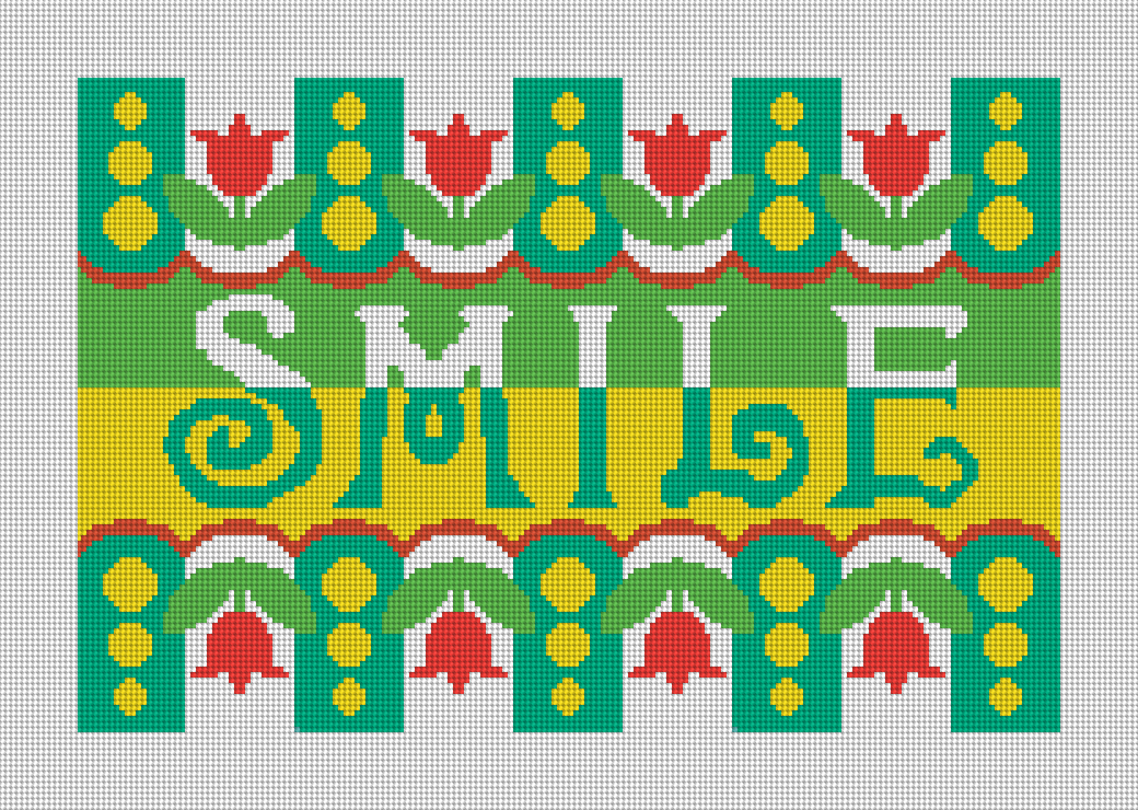 Smile Needlepoint Pillow Kit