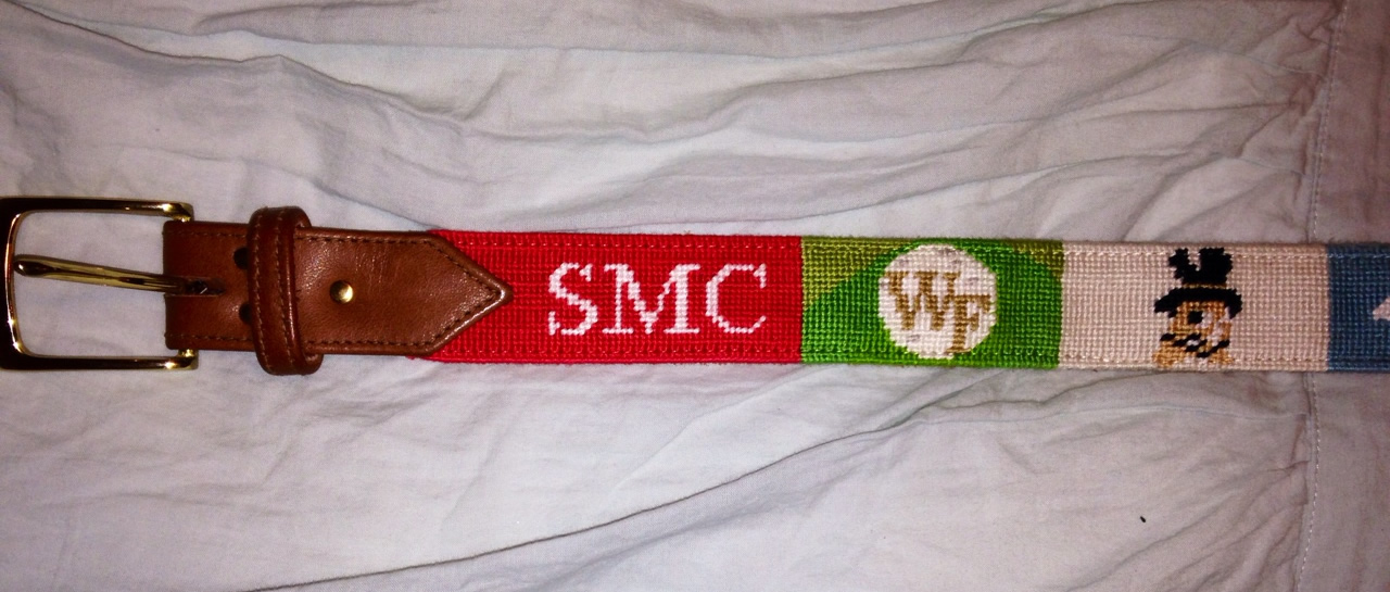 Custom Needlepoint Belt Photo