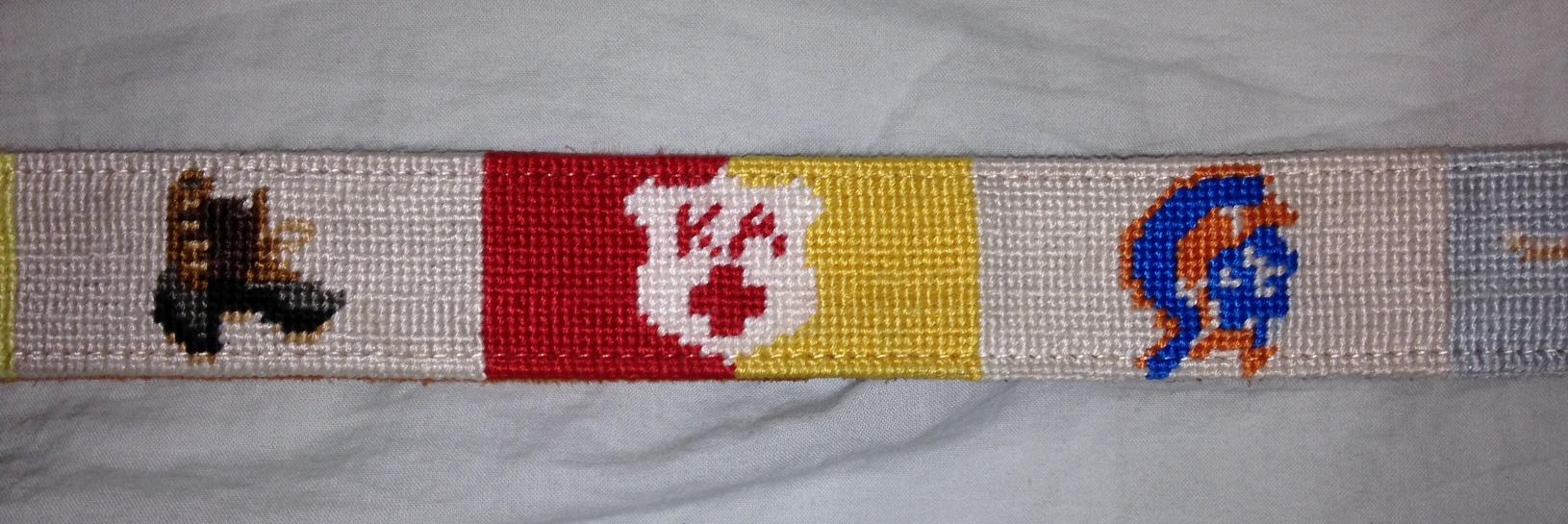 Custom Needlepoint Belt Photo