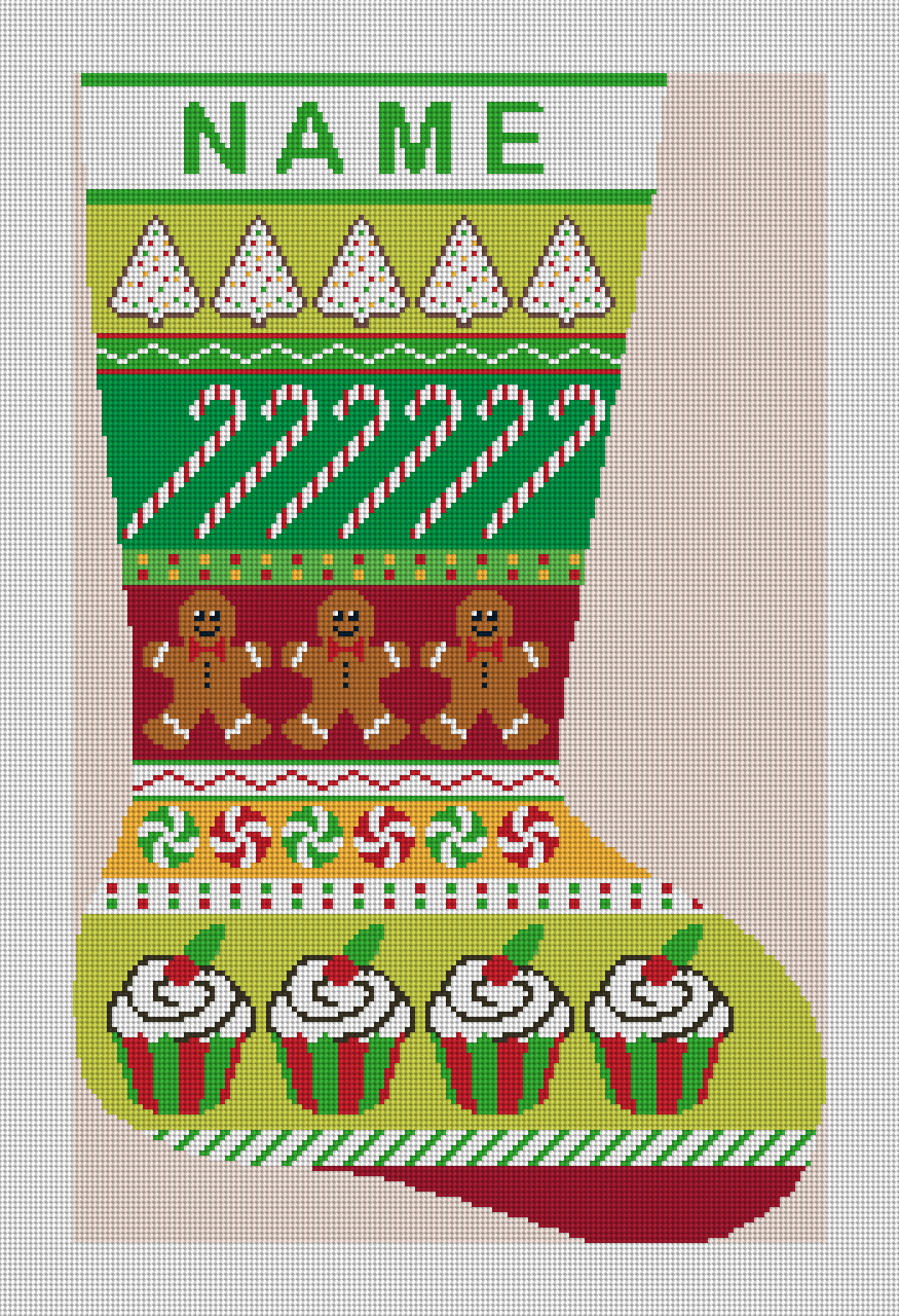 Christmas Treats Needlepoint Stocking