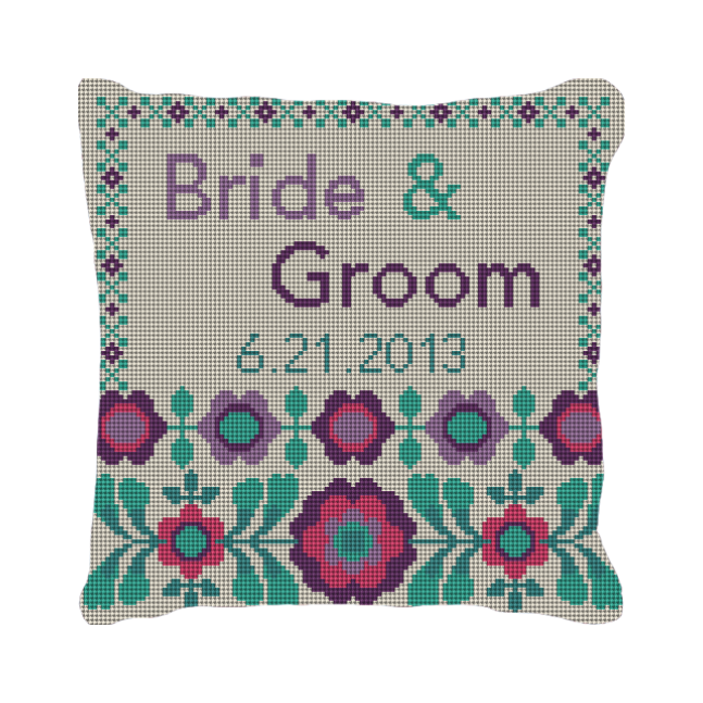 wedding ring pillow NeedlePoint Kits and Canvas Designs