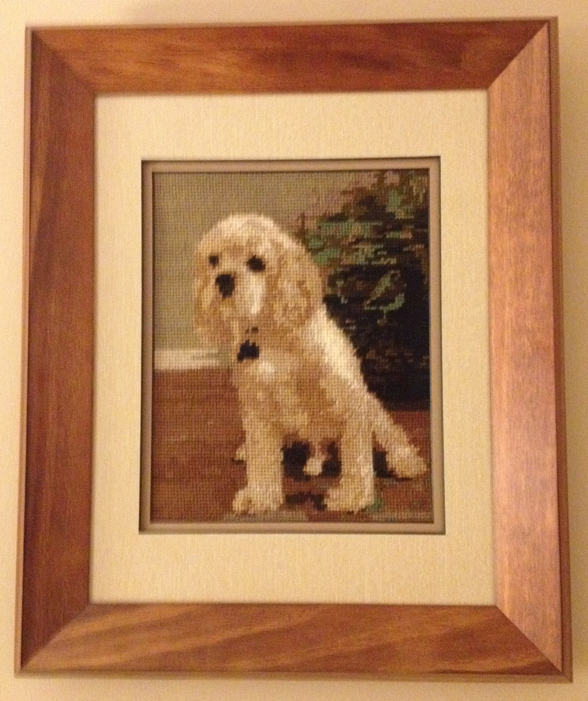 Custom Needlepoint Dog