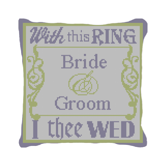 With This Ring Personalized Wedding Pillow