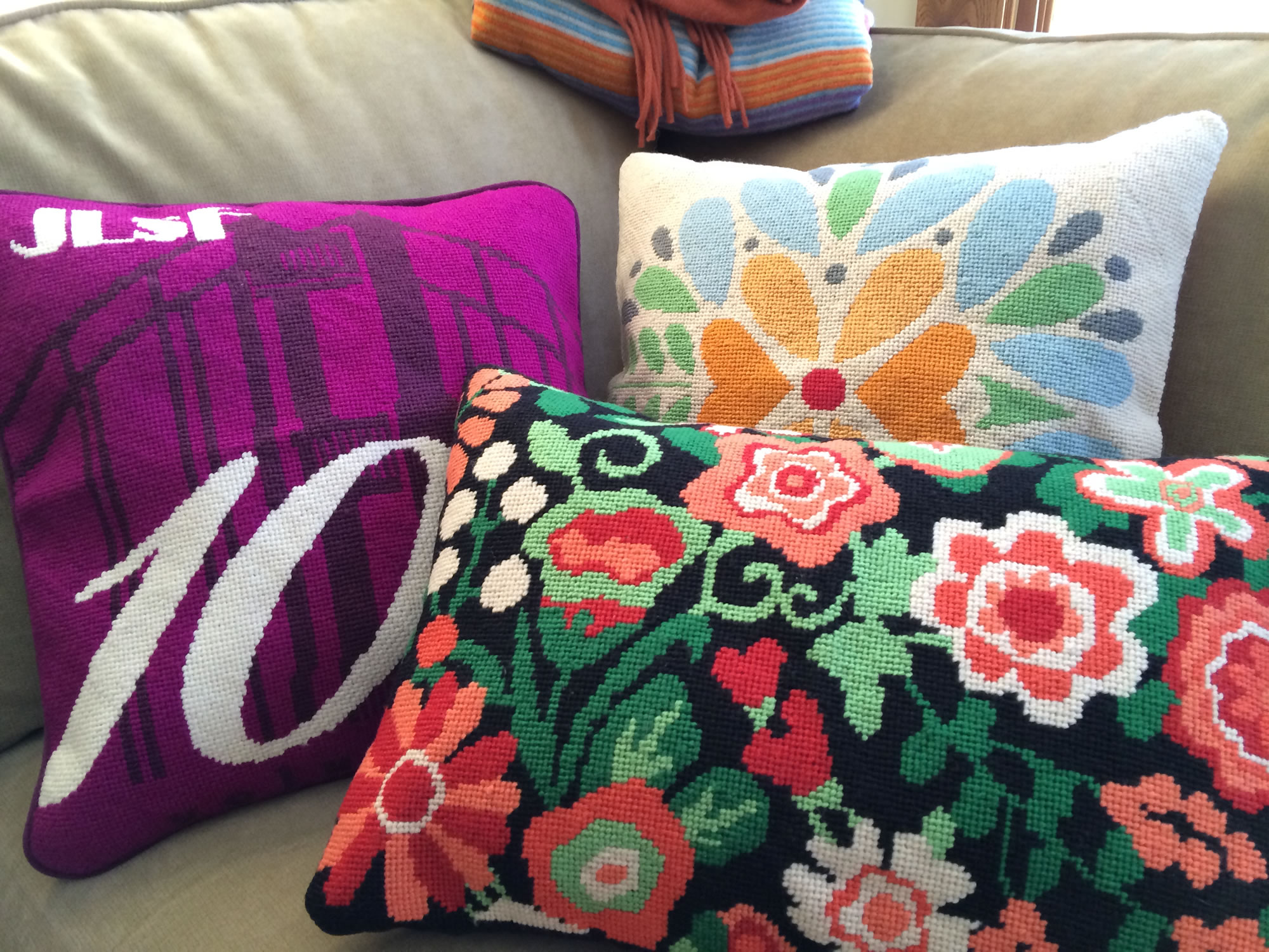 Custom Needlepoint Pillows Photo 1