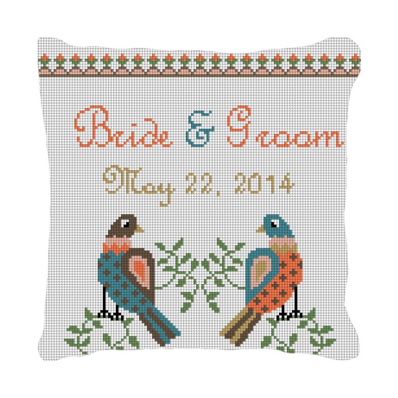 Dove Love Custom Wedding Ring Bearer Pillow