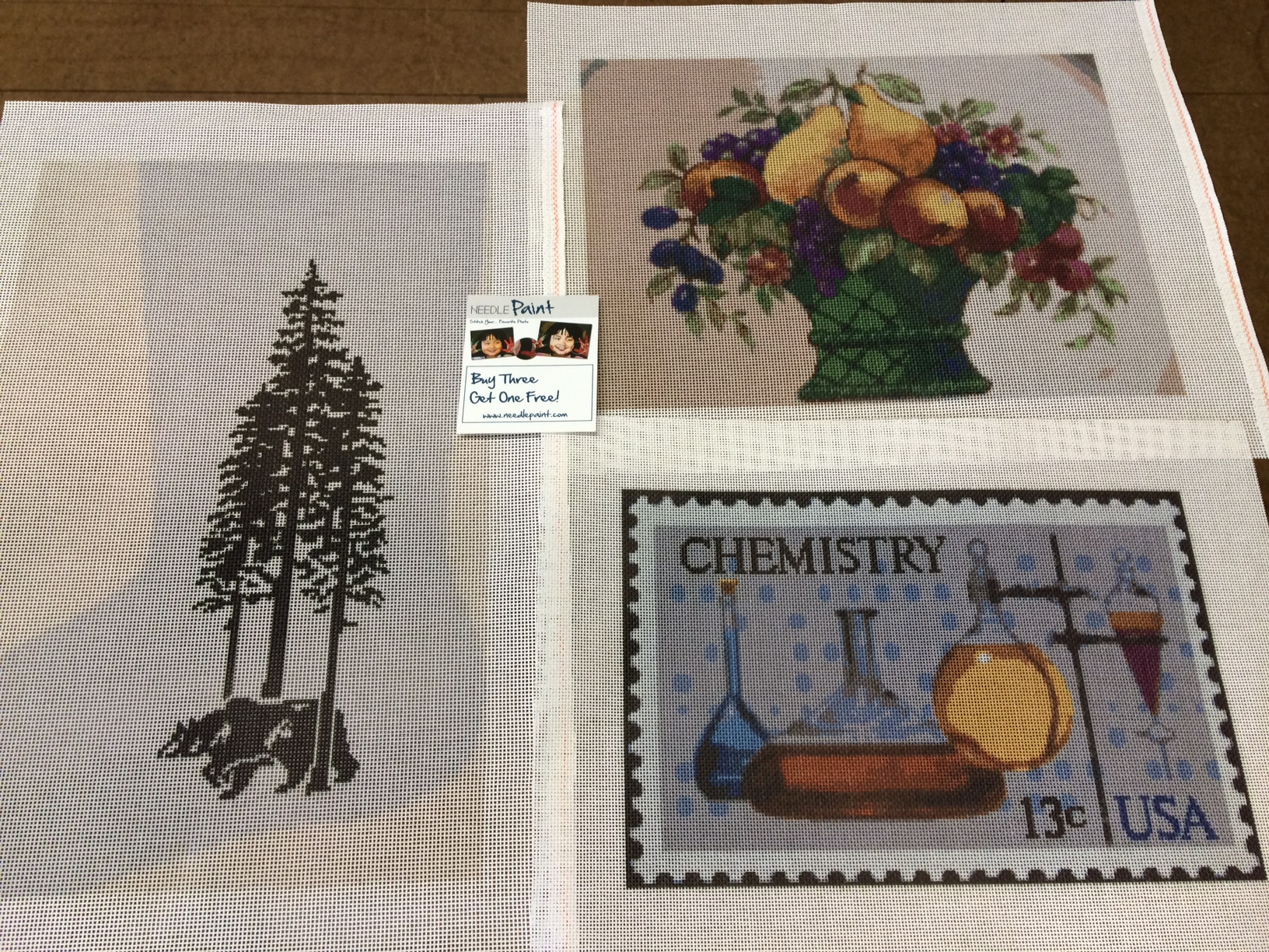 Needlepoint Stocking Stamp and Artwork