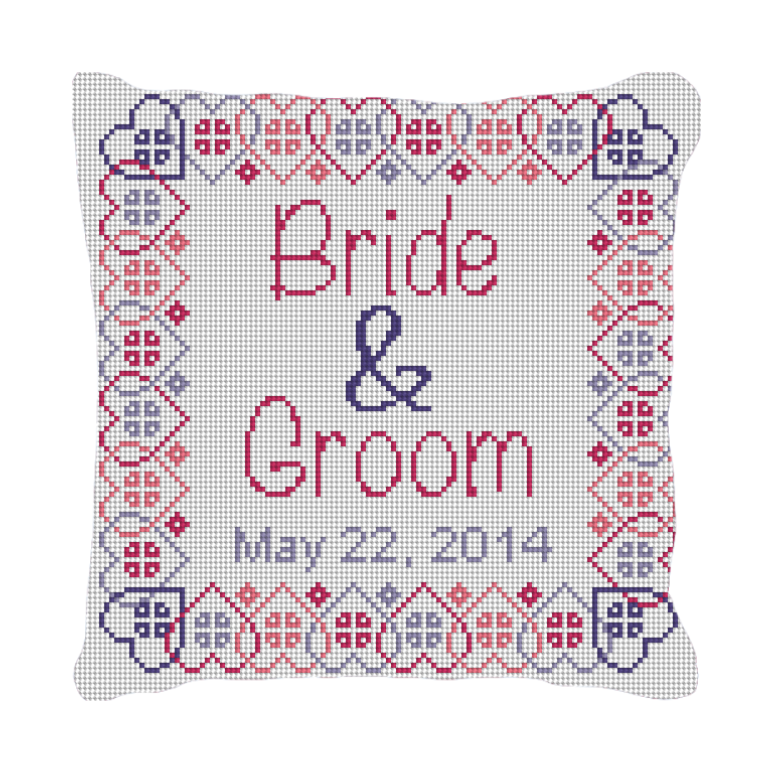 Salo Wedding Ring Bearer Pillow Needlepoint Kit