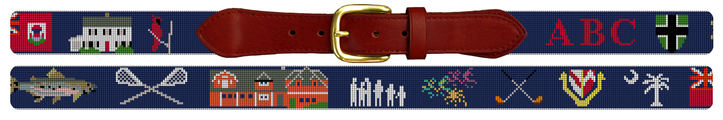 Custom Life Treasures Needlepoint Belt