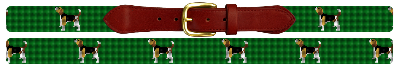 Beagle Needlepoint Belt