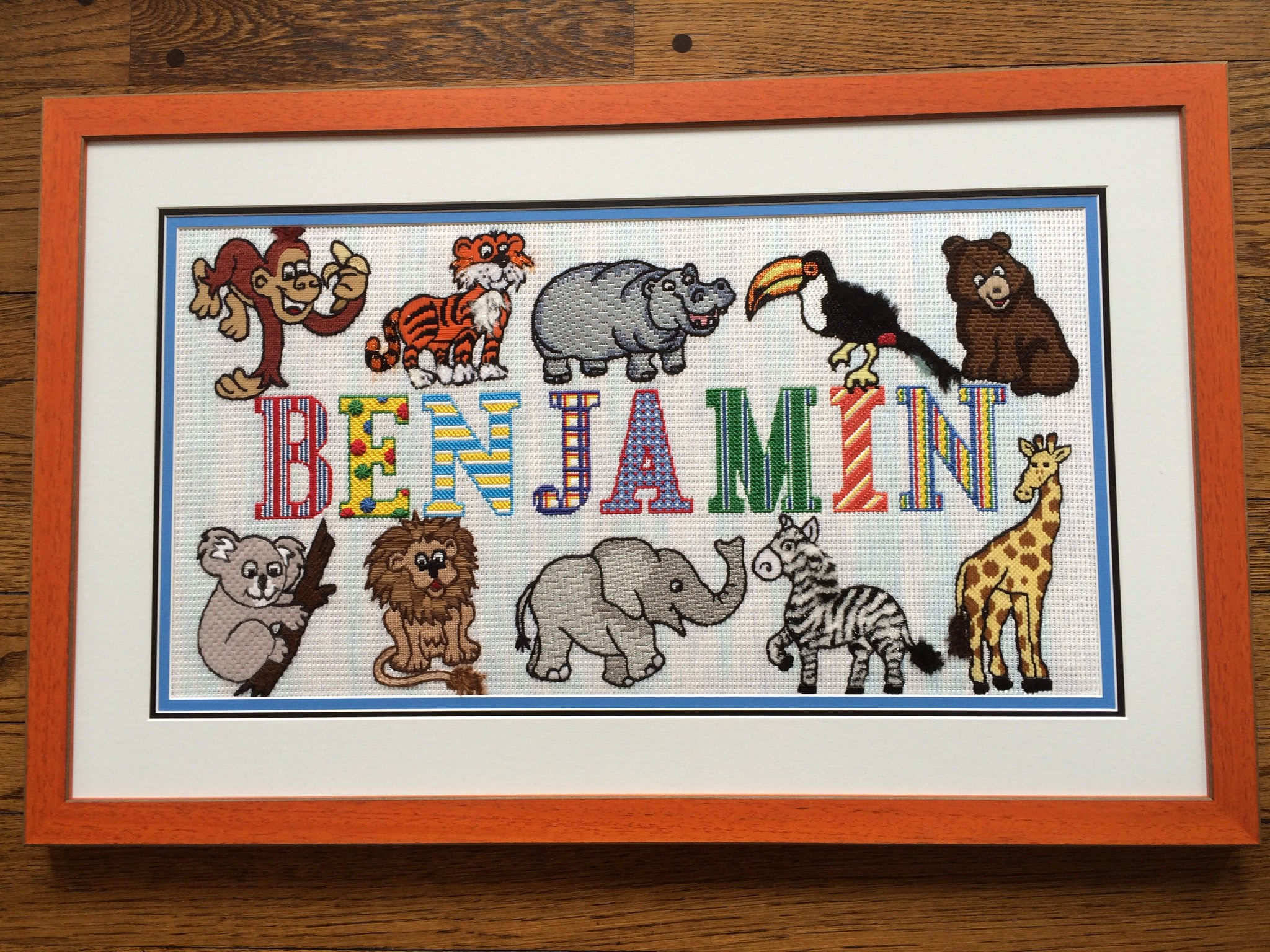 Personalized Kids Needlepoint Art