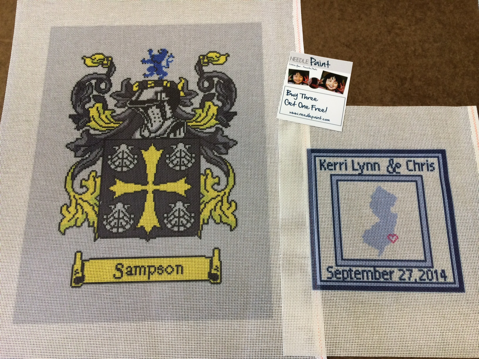New Jersey Needlepoint Coat of Arms
