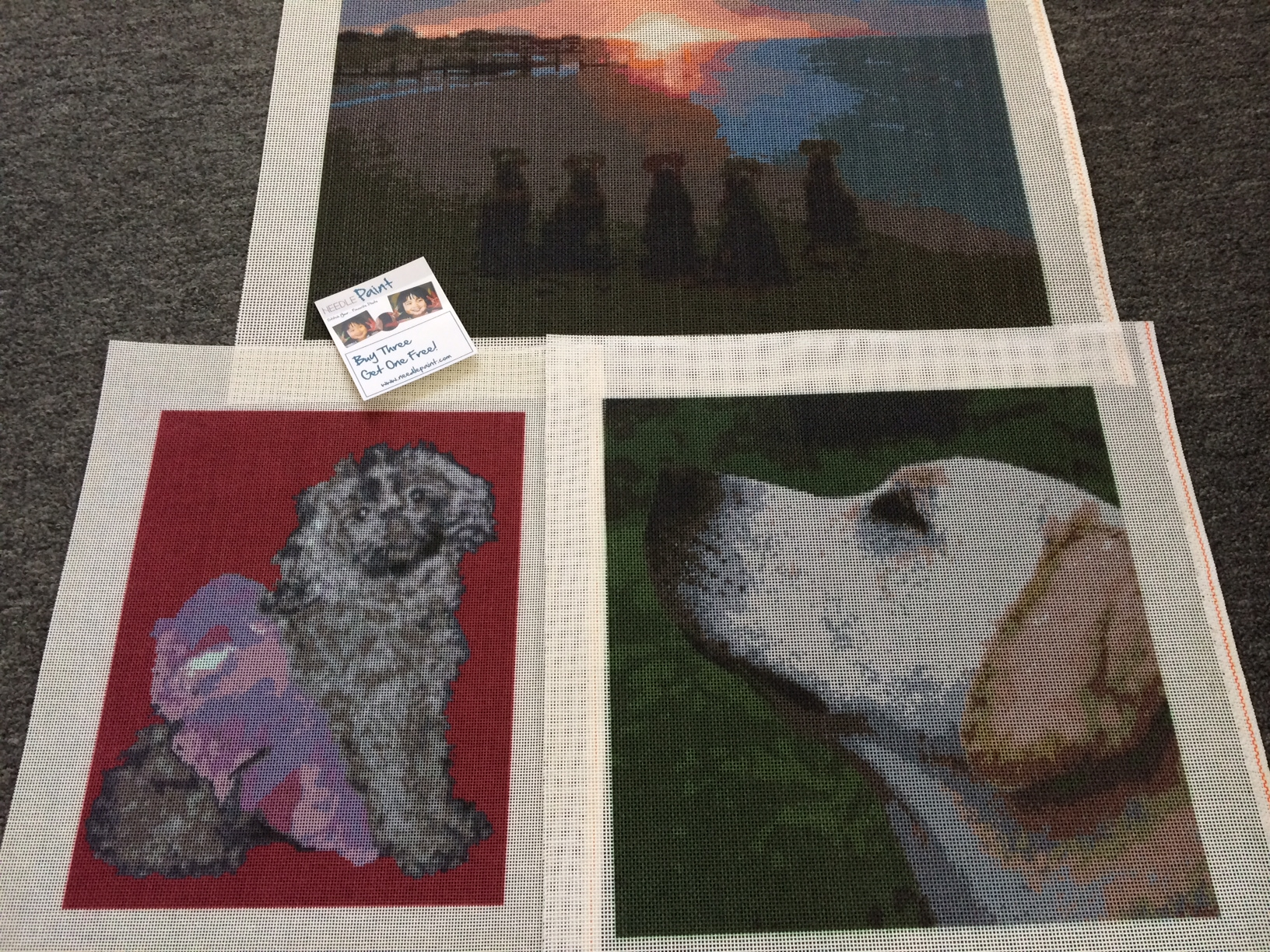 Dog Needlepoint Canvases