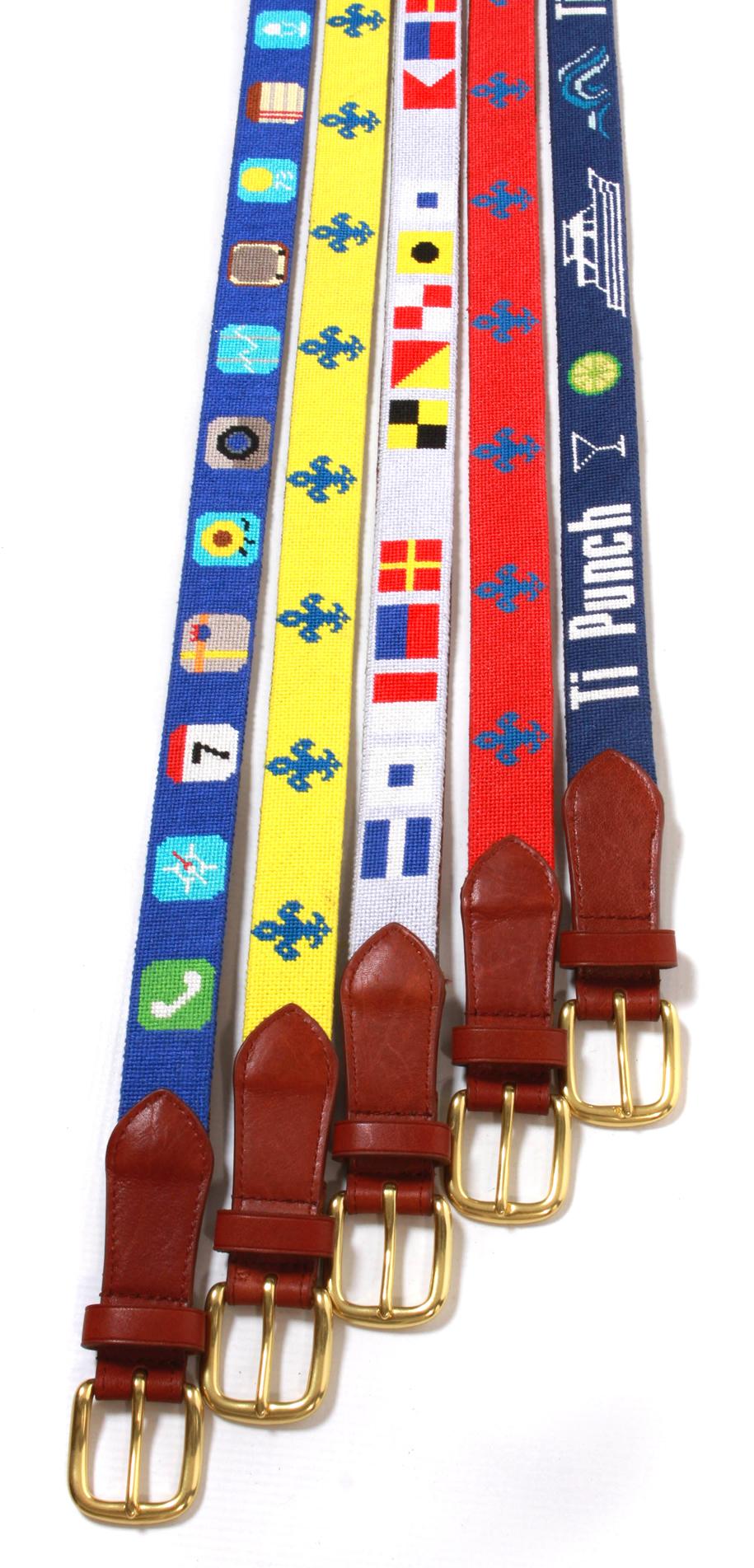 Custom Needlepoint Belts by NeedlePaint