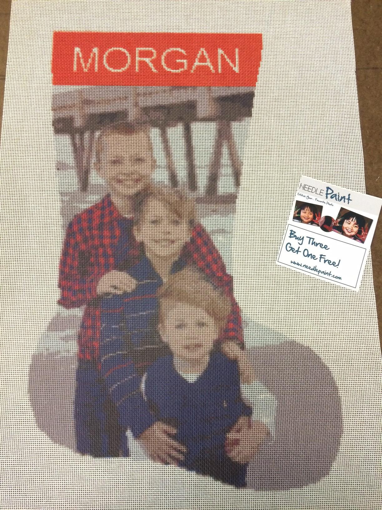 Needlepoint Photo Christmas Stocking