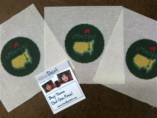 Masters Golf Needlepoint Coasters