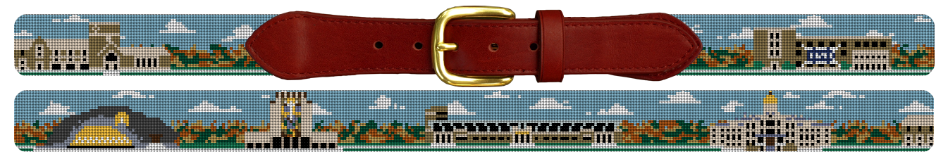 Notre Dame Campus Needlepoint Belt