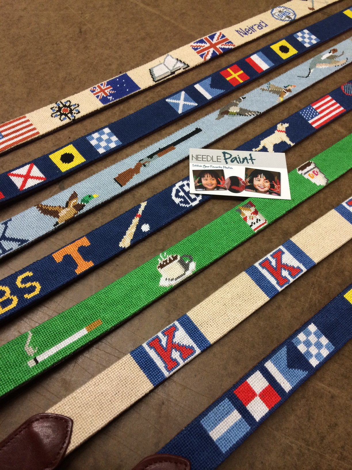 Custom Handmade Needlepoint Belts