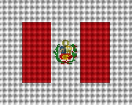 Peru Flag Needlepoint Canvas