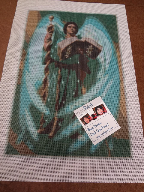 Archangel Gabriel Needlepoint Canvas