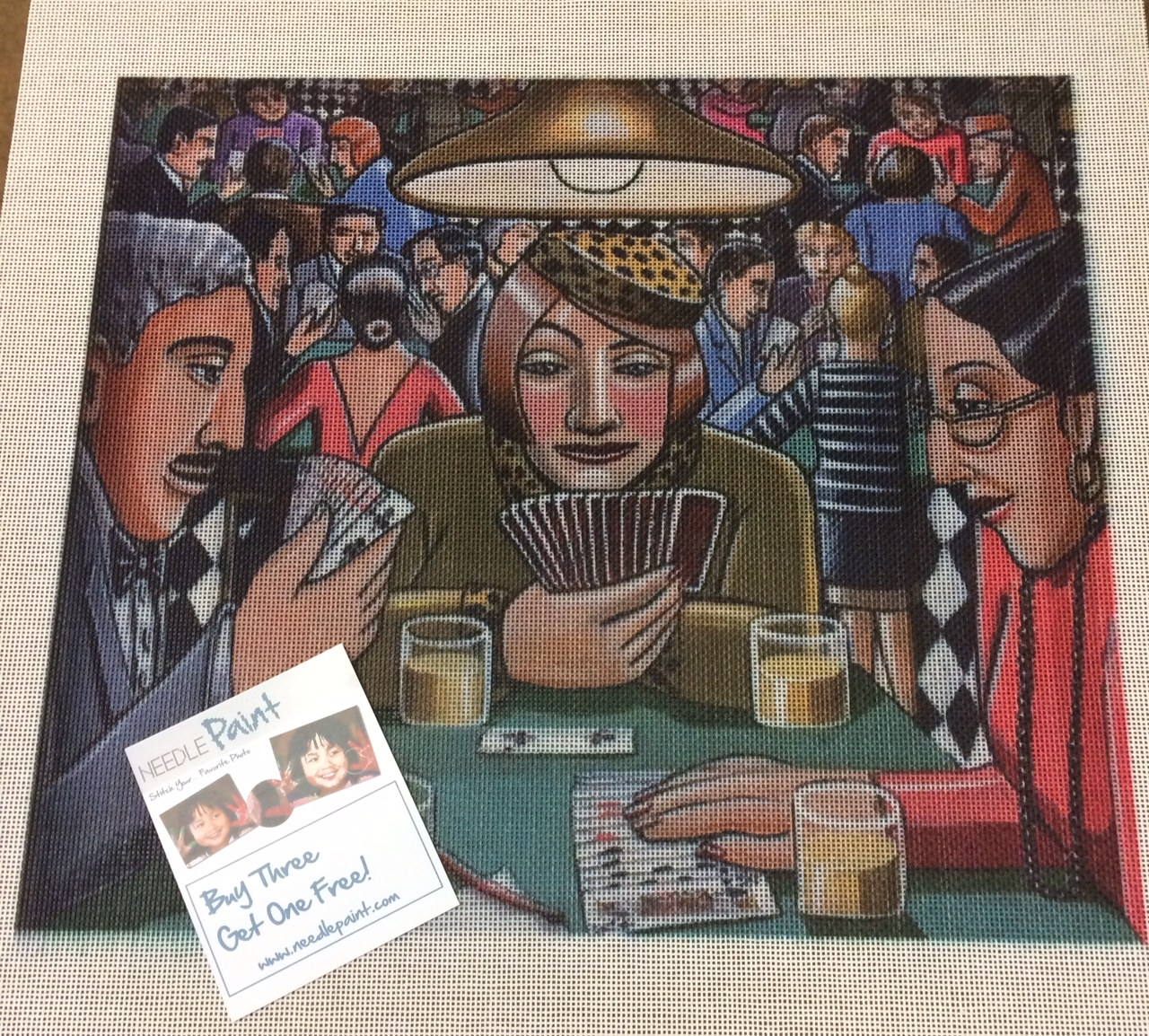 Bridge Players Needlepoint Canvas