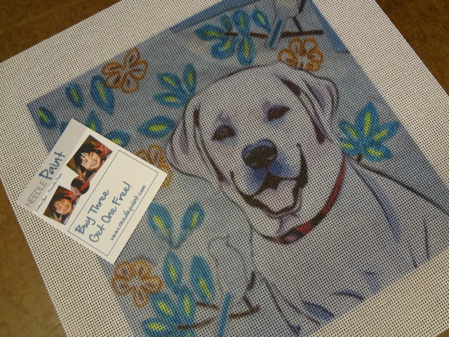 Custom Dog Needlepoint Canvas