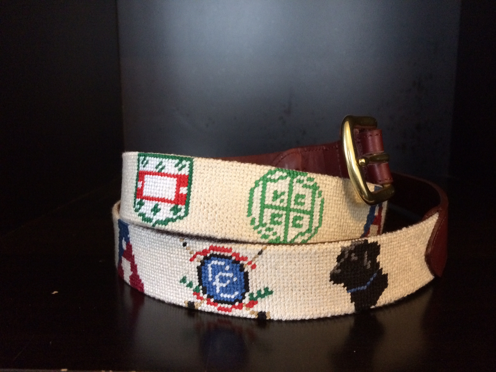 Custom School Needlepoint Belt