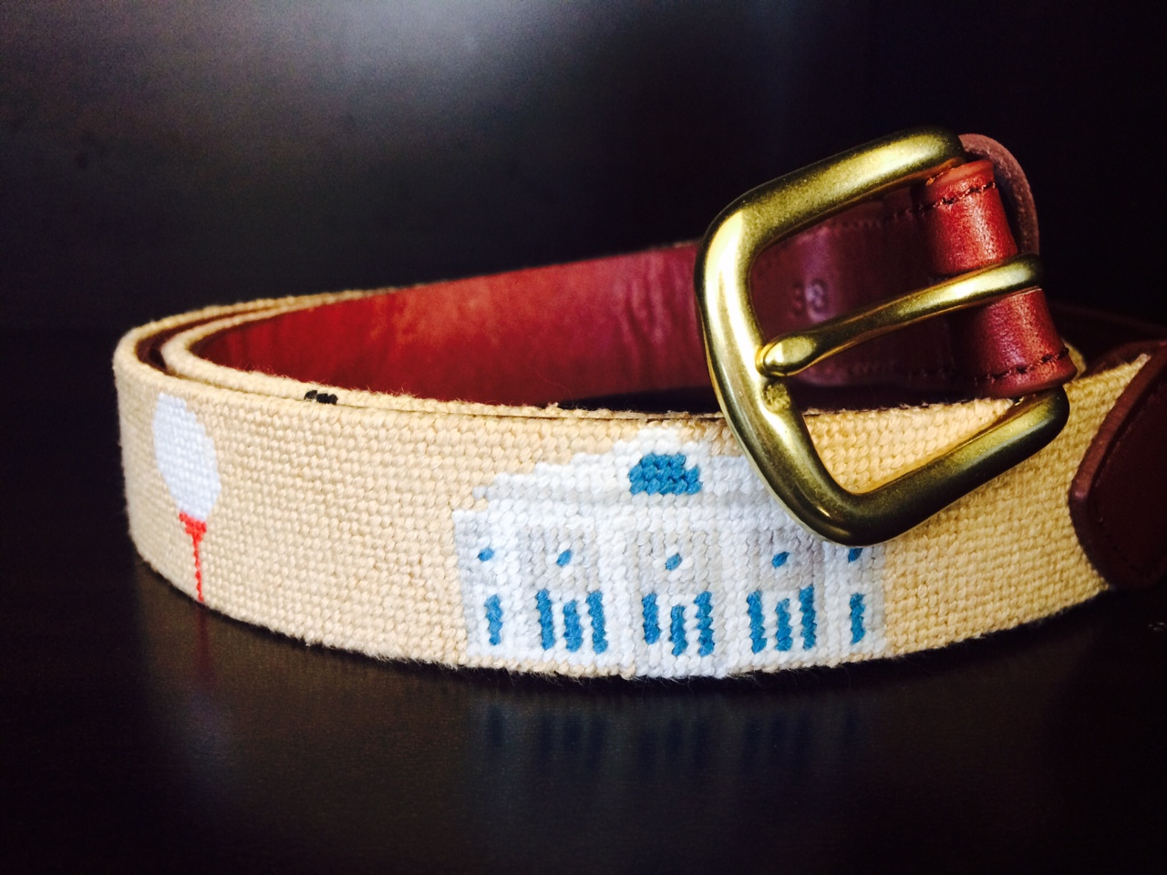 Custom Golf Needlepoint Belt 2