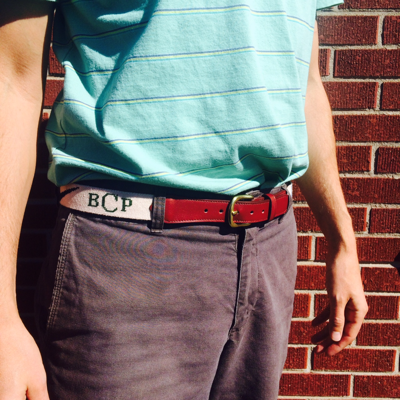 Custom Needlepoint Belt 1