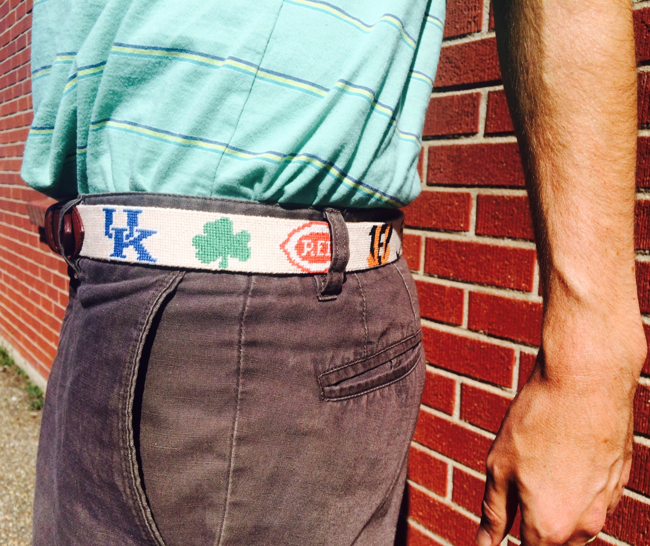 Custom Needlepoint Belt 3