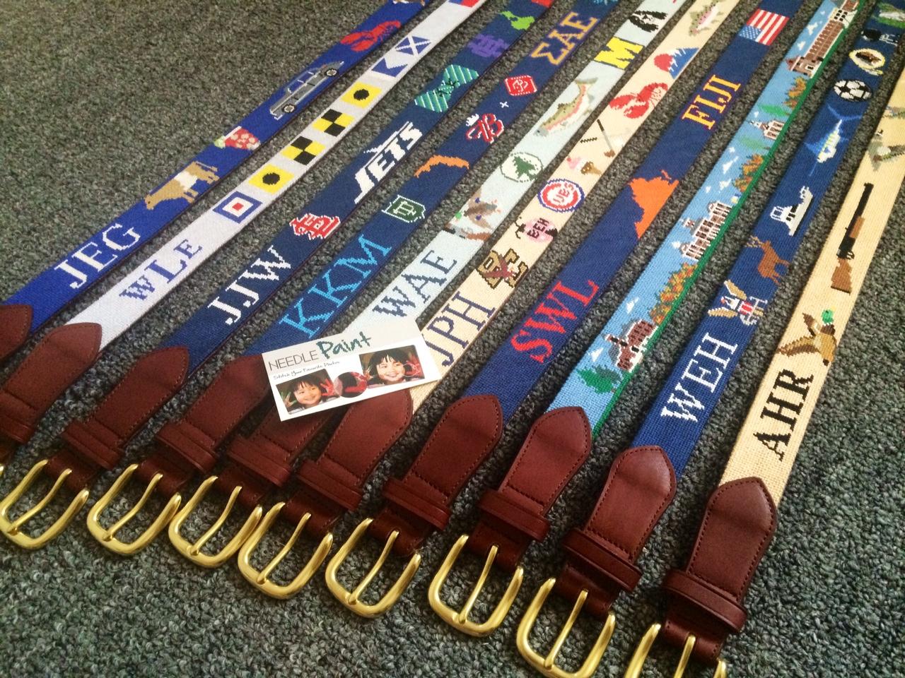 Custom Needlepoint Belt Layout