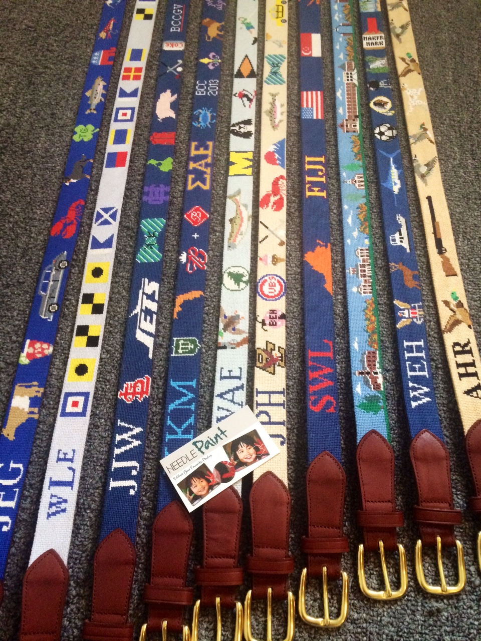 Custom Needlepoint Belts Full Layout