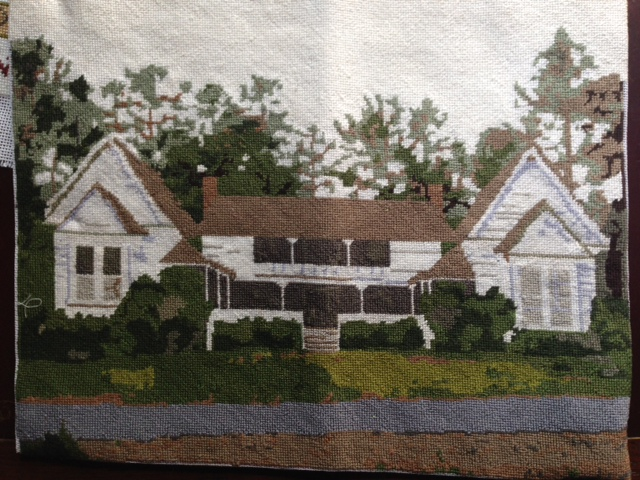 Custom Needlepoint House