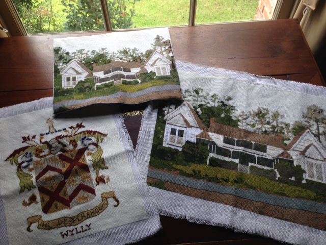 Needlepoint Projects on the Table