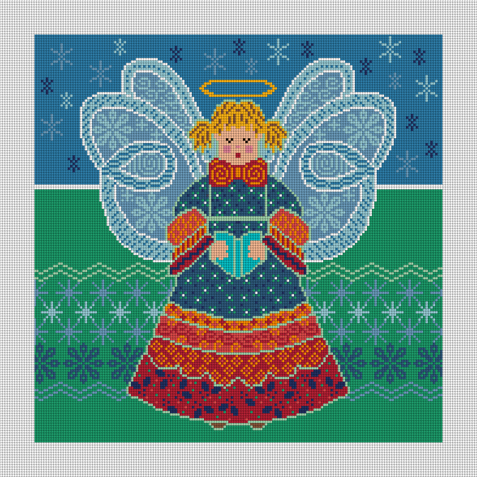 Patch Angel Needlepoint Canvas