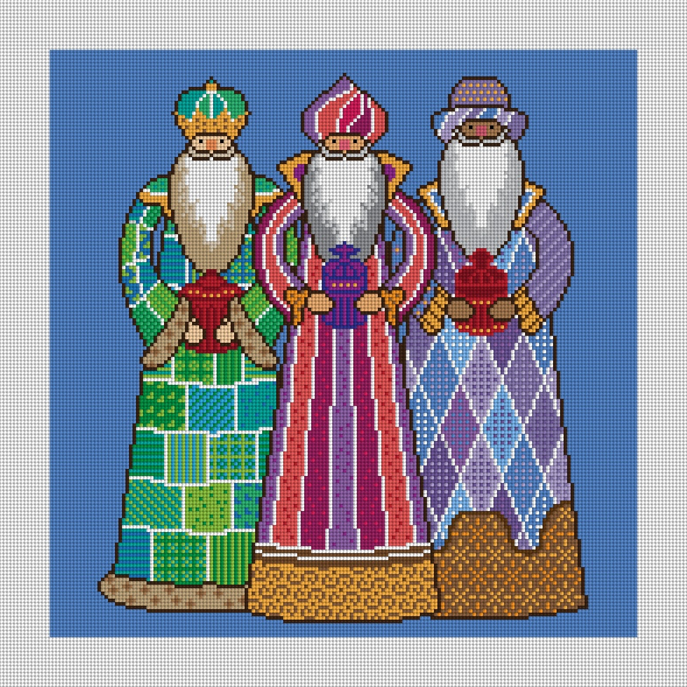 Three Kings Christmas Needlepoint Kit
