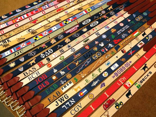 Christmas Gift Custom Needlepoint Belts