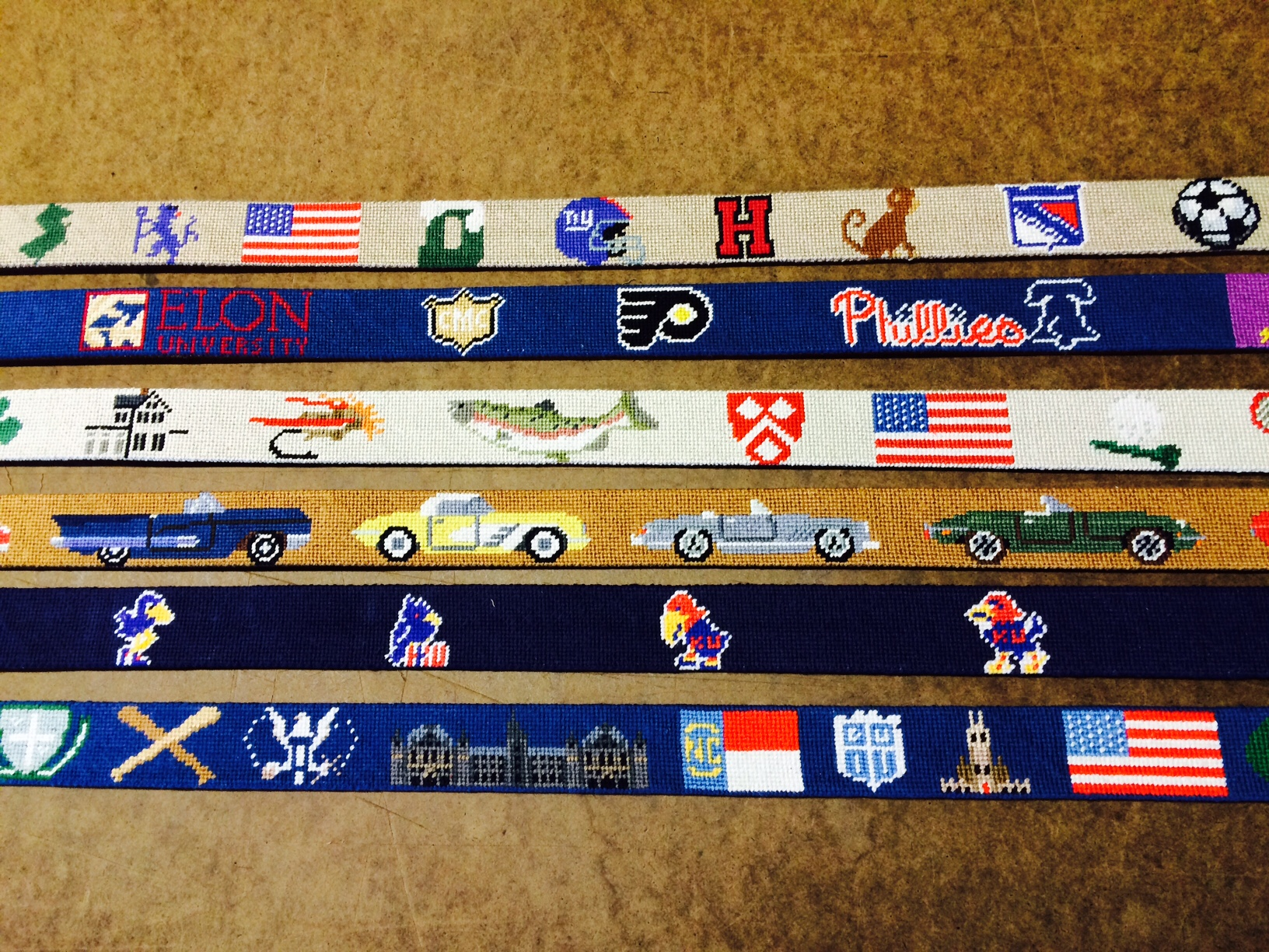 Custom Needlepoint Belt Details