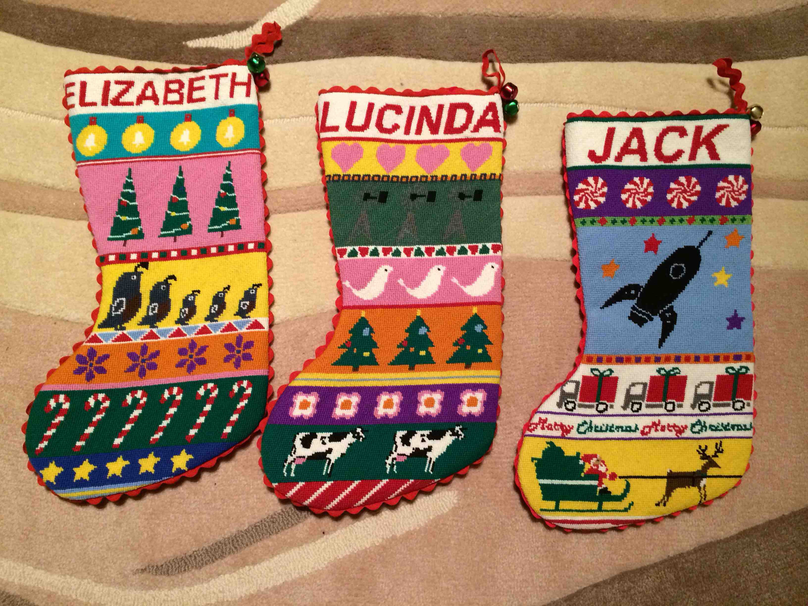 Cool Needlepoint Christmas Stockings