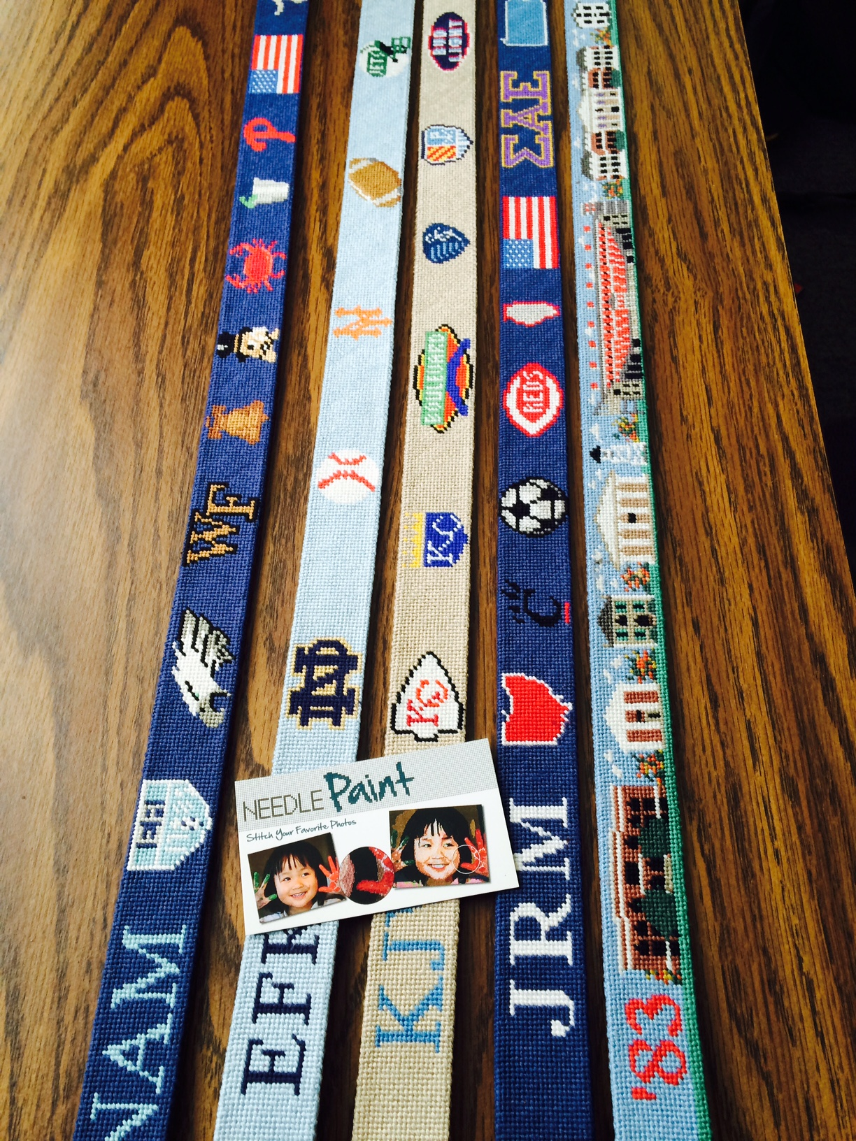 Custom Sports Needlepoint Belts