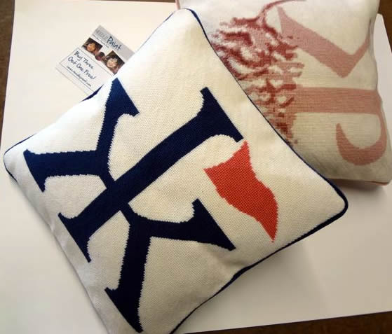 Custom Wedding Monogram Pillows