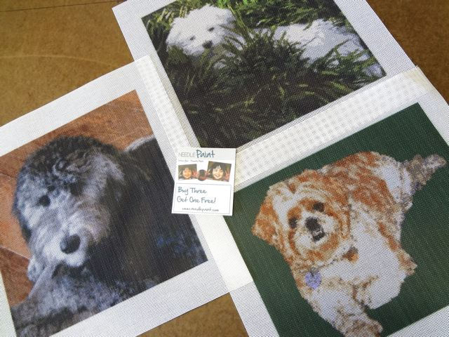 Dog Needlepoint Canvases from Photos