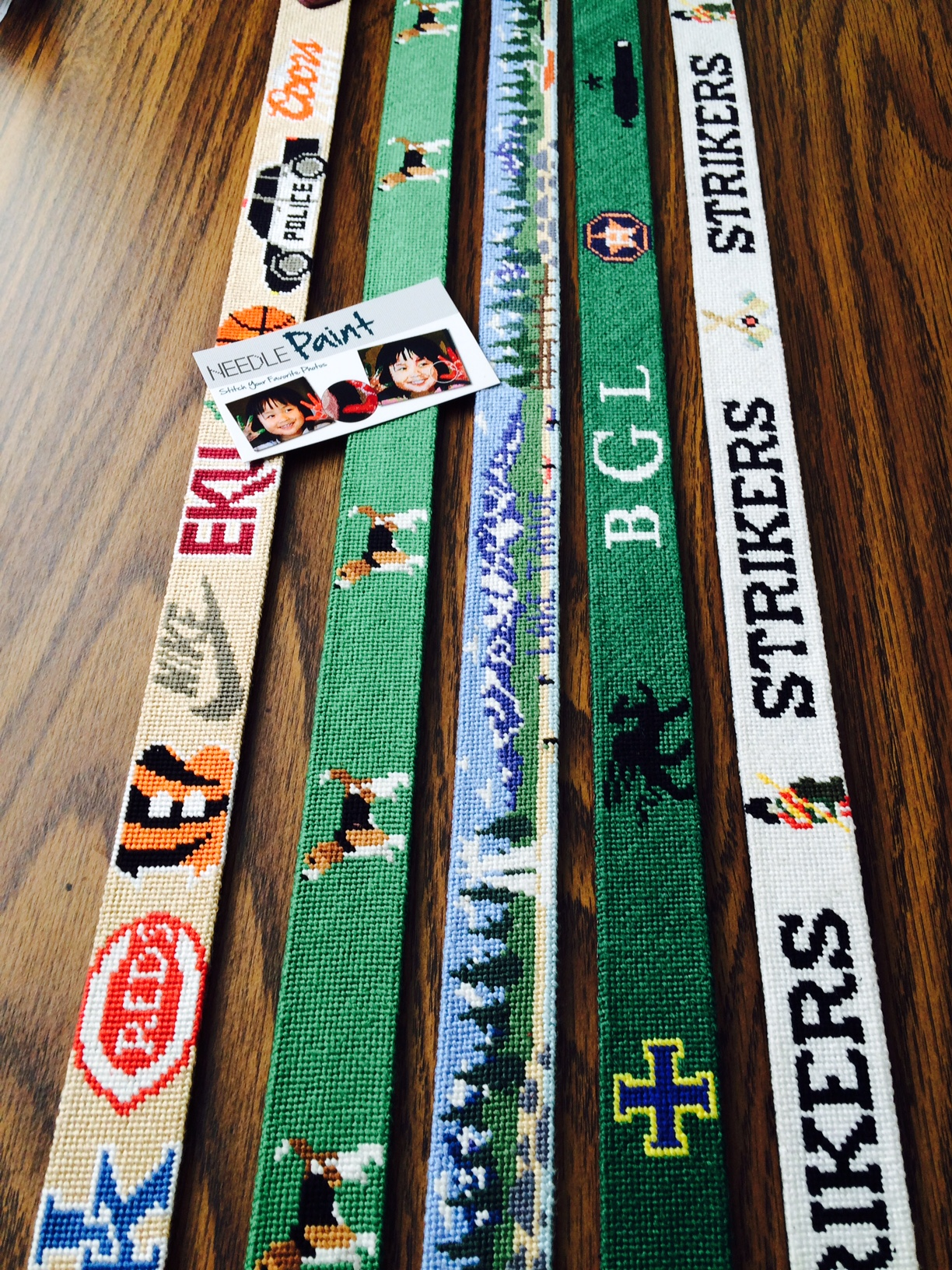 Personalized Needlepoint Belts