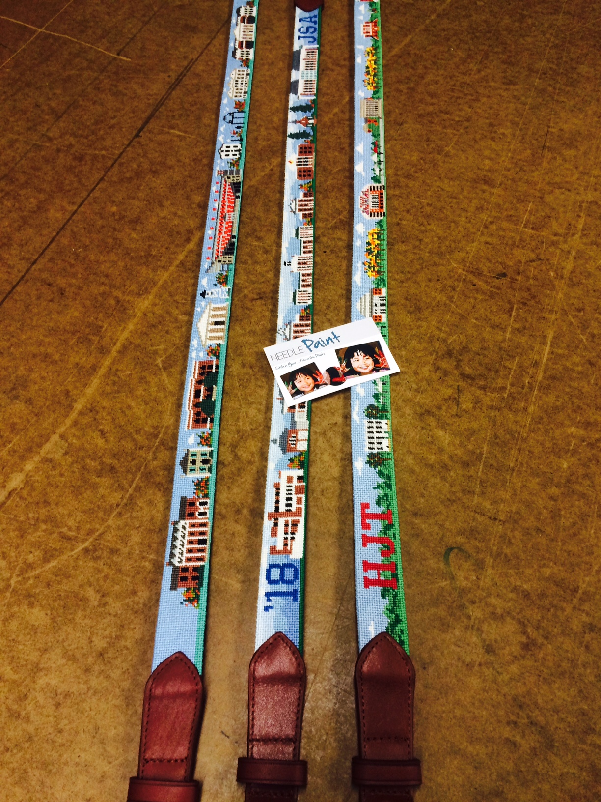 Custom College Campus Needlepoint Belts