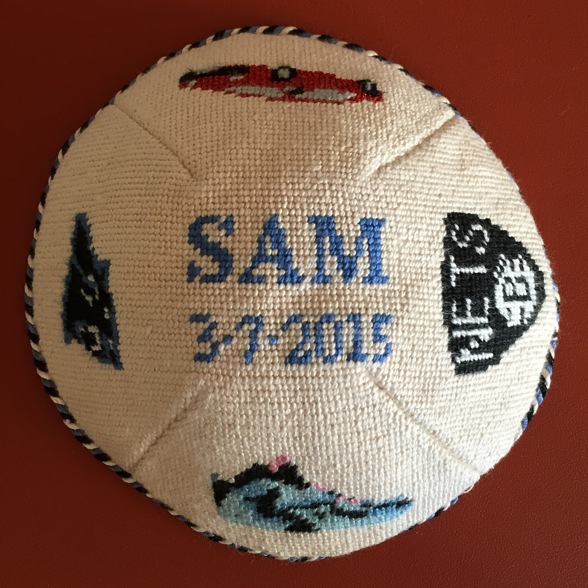 Custom Needlepoint Kippah